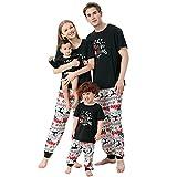 Conjunto de pijama de familia de Navidad, para hombre, mujer y niños, conjunto de pijamas largos con diseño navideño