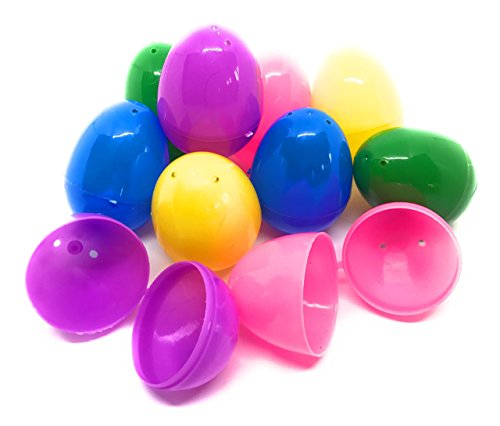 Funiverse Bulk 200 Pack of Hinged Plastic Easter Eggs - Bright Colors, Easy Snap Shut, and Never Lose Pieces