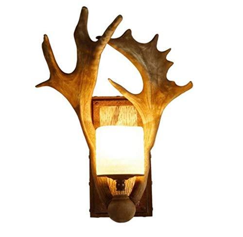 Wandlamp van kunsthars, E14, Single Flame Loft Bar Café Slaapkamer