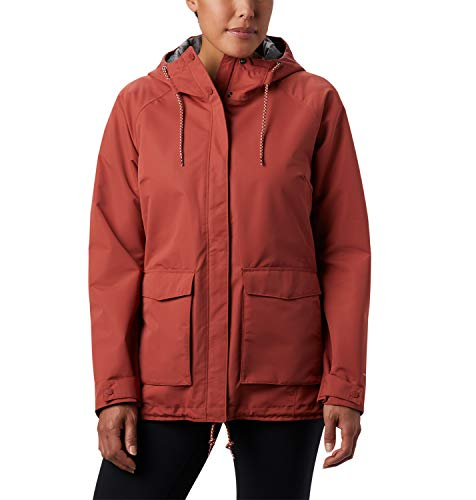Columbia South Canyon Chaqueta Impermeable, Mujer, Rojo (Dusty Crimson), M