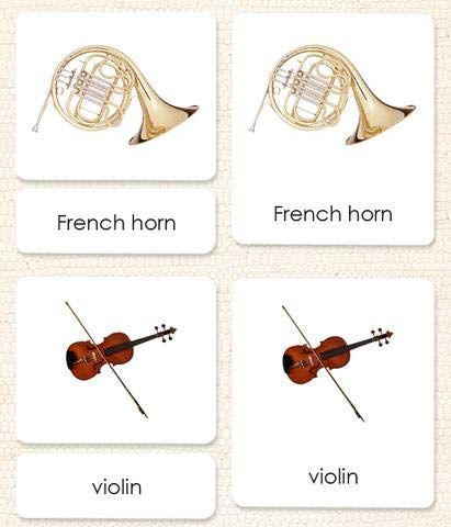 Orchestral Instruments 3-Part Reading Cards