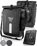 MIVELO - 3 in 1 Fahrradtasche - Rucksack - Schultertasche wasserdicht, inkl. Laptopfach, für...