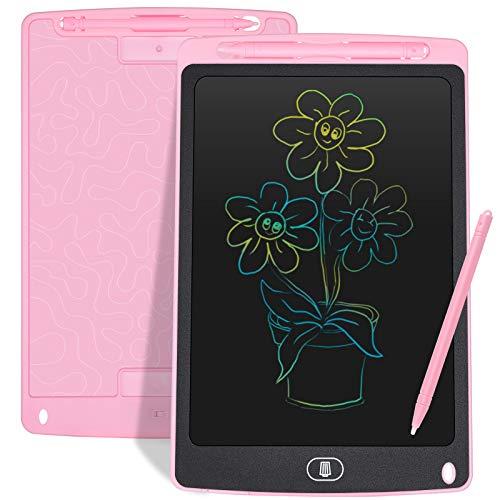 Czemo Bunte Schreibtafel LCD 10Zoll,Elektronisches LCD Schreibbrett Digitales Zeichenbrett ,Grafiktabletts Schreibplatte, Kinderspielzeug Erwachsene Geschenke (Rosa)