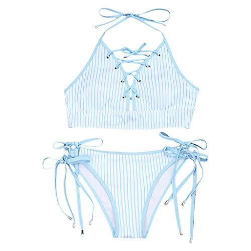 Bikini Gestreept tweedelige badpak voor dames, pushups, badmode, beachwear gestreept