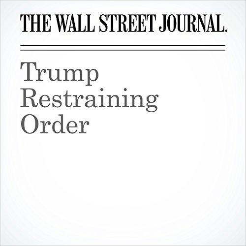 Trump Restraining Order copertina