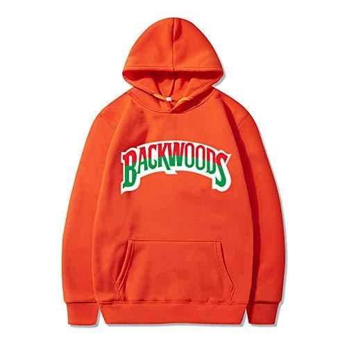 1Sconto Sudaderas con Capucha Backwoods para Hombres Y Mujeres Sudadera con Puños Roscados Suéter con Capucha De Moda Hip-Hop M