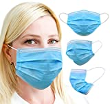 Protection Mask 3-Ply - Pack of (10) - UK Stock, Blue