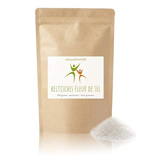 Keltisches Fleur de Sel (Blume des Salzes) - 100 g - Pyramidensalz - handgeschöpftes & handverlesenes Meersalz - aus der Bretagne - absolut naturbelassen - vegan - frei von Zusatzsstoffen