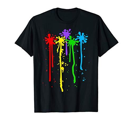 Karneval Kostüm Maler Faschingskostüm Farbkleckse bunt Farbe T-Shirt