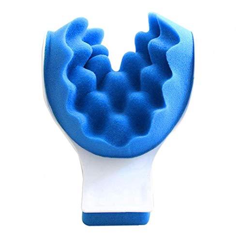 Rrunzfon Almohada de Masaje quiropráctica Almohada tracción del Cuello de la Almohadilla del Massager del Cuello Relajante Muscular de Cuello Azul Relajante