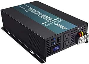 WZRELB Pure Sine Wave 2000 Watt (4000W Surge) 48V Power Inverter DC to 120 AC 60Hz,Off-Grid Solar Back Up Power