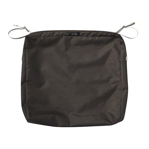 Classic Accessories Ravenna Rectangular Patio Seat Cushion Slip Cover - Durable Outdoor Cushion, Espresso, 21'L x 19'W x 3'Thick