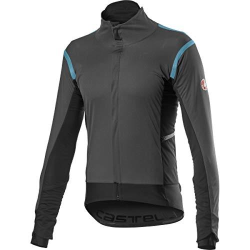 castelli Alpha Ros 2 Jacket - Chaqueta Deportiva para Hombre, Color Gris Oscuro, Talla S