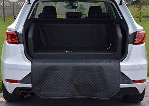 BETTEX comfort & style Autohundebett aus Kunstleder Autoschondecke Kofferraumbox Hundebett Hundebox (100x90, schwarz)