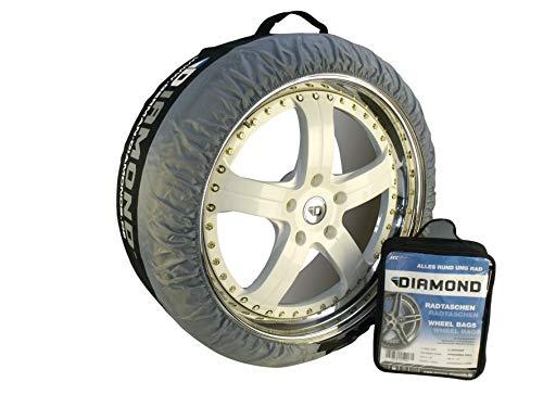 """WEMAR Autozubehör GmbH 4X Diamond Reifentasche Rädersack Felgenbeutel Schutzhülle Autoreifen Aufbewahrung Reifenhülle 14\""""-24\"""""""