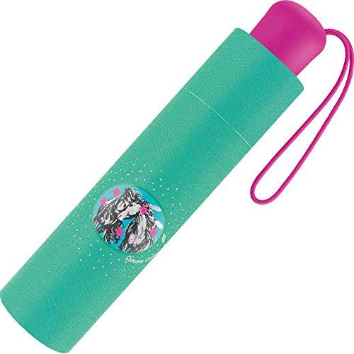 Scout Kinder Regenschirm Taschenschirm Schultaschenschirm mit großen Reflektionsflächen extra leicht Summer Green