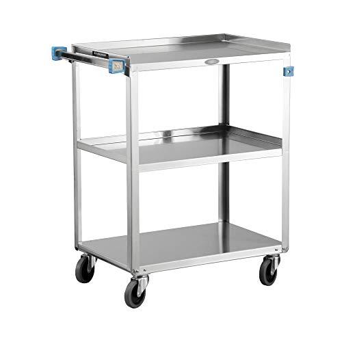 Lakeside 311 Utility Cart, Stainless Steel, 3 Shelves, 300 lb. Capacity (Fully Assembled)