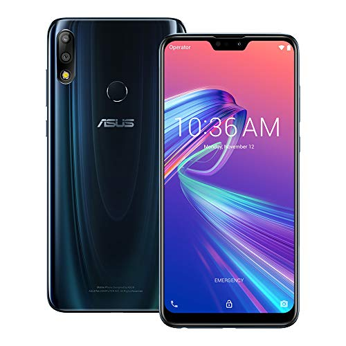 ASUS ZenFone Max Pro (M2) (ZB631KL) 4GB / 128GB 6.3-inches LTE Dual SIM Factory Unlocked - International Stock No Warranty (Midnight Blue)