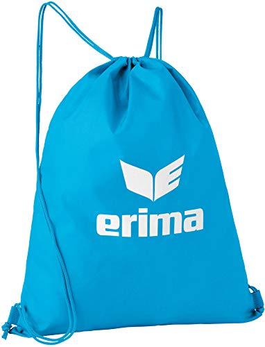 Erima Unisex Basic Turnbeutel, Curacao/Weiß, Einheitsgröße