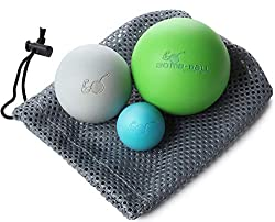 Bomb-Ball Massage Ball Set - Fascia + Lacrosse balls for ultimate muscle relaxation, self-massage, fascia training + trigger point therapy