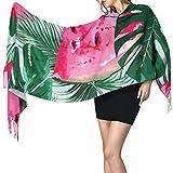 Bokueay Bufanda de moda para mujer Women's Warm Shawl Scarf Fashion Long Shawl Watermelons Tropical Palm Leaves Seamless Vector Large Soft Imitation Cashmere Pashmina Shawls Wraps Light Tassel Scarf