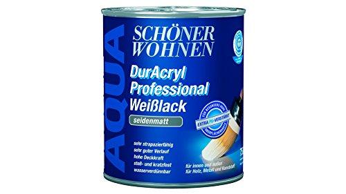 SCHÖNER WOHNEN FARBE Weißlack DurAcryl Professional seidenmatt, 2,5 L