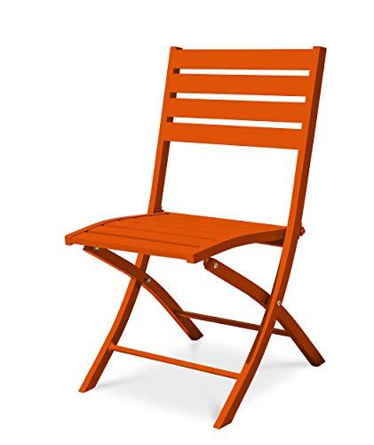 DCB GARDEN Marius Chaise de Jardin, Orange