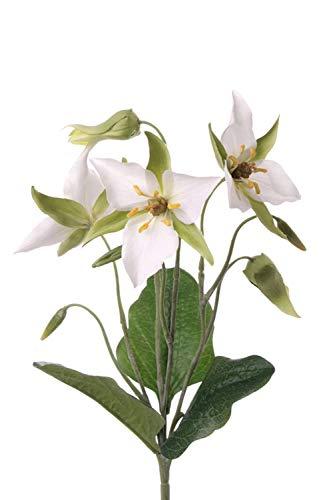 PARC Network - Waldlilie künstlich auf Steckstab, weiß, 40cm, Ø10-12cm - Seidenblumen - Lilie Deko - Kunstblumen - Künstliche Lilien - Kunstpflanze