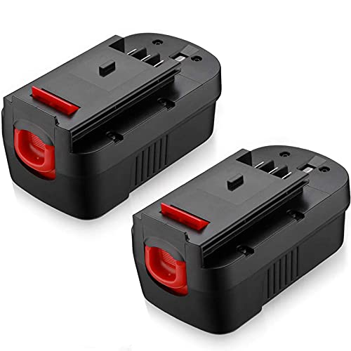 2 Packs 3.6AH HPB18 Replacement for Black and Decker 18V Battery Ni-Mh Compatible with Black & Decker HPB18 HPB18-OPE 244760-00 A1718 FS18FL FSB18 Firestorm 18-Volt Cordless Power Tools