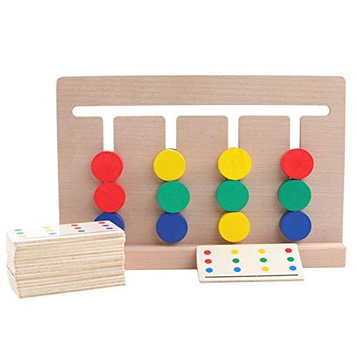 4 Farben Holzspielzeug Entwicklung Spiel Sortierung Sortierspielzeug aus Holz Jungen Madchen Stucke Zahlen Ratsel Lehrreich Puzzle fur Kinder uber 6 Jahre