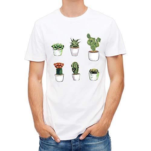 MKDLJY T Shirts 2019 Kreative Lustige Kakteen Gedruckt T-Shirt Für Männer Junge Neuheit Männer T-Shirt Mode Tops