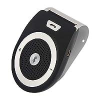 YangYang ワイヤレスBluetoothスピーカー ハンズフリーキット ブルートゥース ブラックサンバイザー 車のブルーブース ハンズフリー電話 モバイル音楽プレーヤー 多言語通話放送-1個