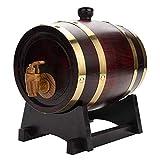 YINGJI Barril de Roble Papelera De Roble Barril para Whisky Vino Whisky Brandy Salsa Picante Almohadilla Incorporada 1.5 L / 3 L / 5 L / 10 L (Size : 1.5L)