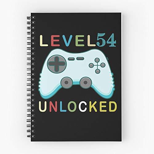 Level Video Games Birthday Up Gamer Gaming Controller Nettes Schul-Fünf-Sterne-Spiral-Notizbuch mit haltbarem Druck