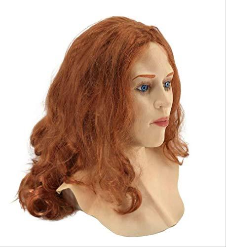 tytlmaske Realistische Weibliche Latexmaske,Menschliche Overhead-Maske,Für Party Cosplay Sexy Kostüm Frau Gesicht Crossdressing