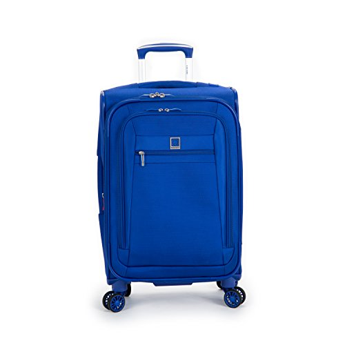 Delsey Luggage Helium Hyperlite Carry On Expandable Spinner Trolley (Blue)