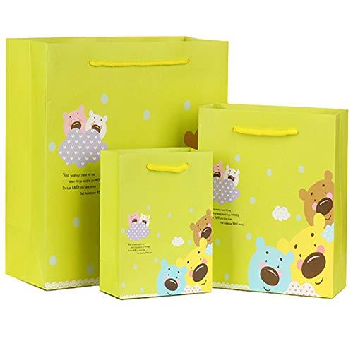 LIUQIAN Handtasche Anzeigenblatt Tasche allgemeine Wirtschaftsförderung Verpackung Papier Tasche Kleidung Lagerung Shopping Tasche-Geschenk-Set von THR EE-Stücke (groß und klein)
