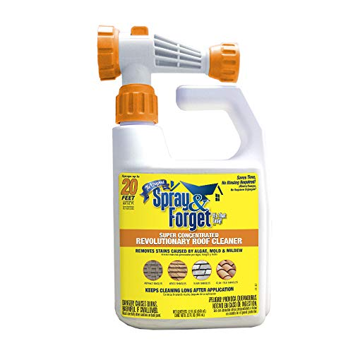 Spray & Forget SFRCHEQ06 Super Concentrated Revolutionary Roof Cleaner (Hose End), 32 oz, White
