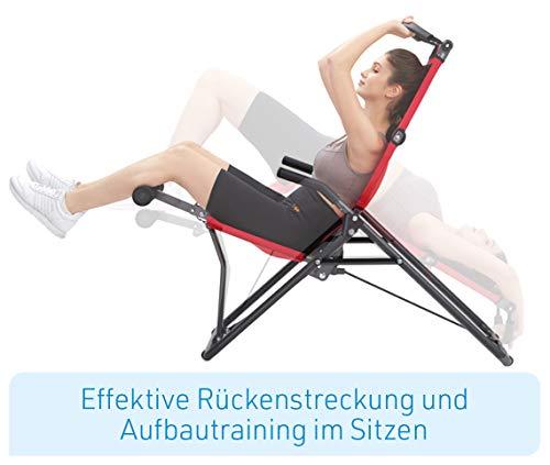 Mediashop BackLounge   Inversions-Rücken-Trainer   Inversionsbank   Streckung der Wirbelsäule   bis zu 110 kg dynamisch, 250 kg statisch belastbar   integrierte Massagerollen   zusammenklappbar - 8