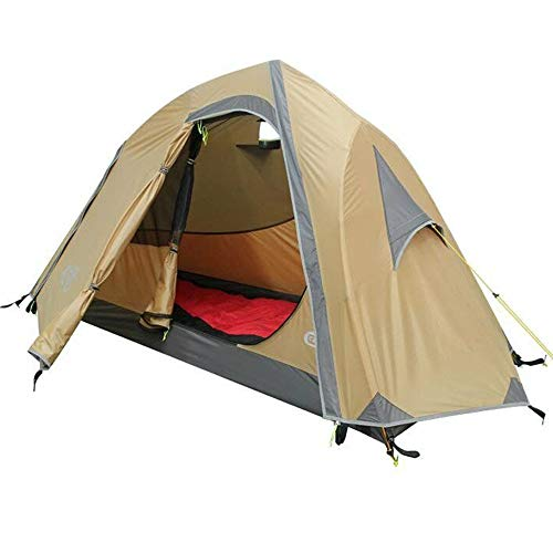 Ussupplymed Double Layer Mountain 1 Person Backpacker Tent Ultralight Footprint 4Season Tent for Backpacking, Kayaking, Camping and Bikepacking