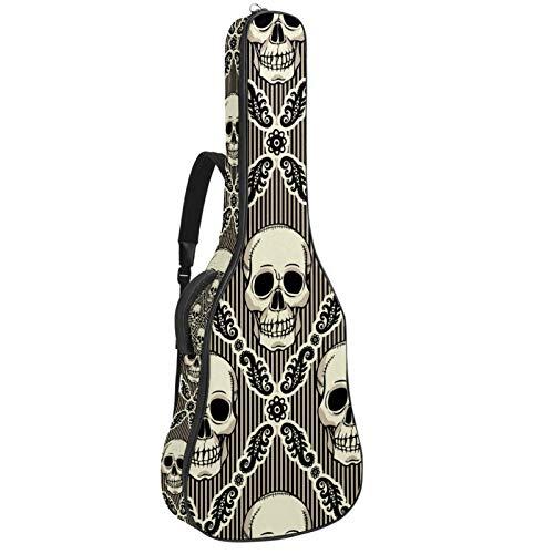 Bennigiry Funda de transporte para guitarrista con diseño de calavera, estilo vintage, para guitarrista