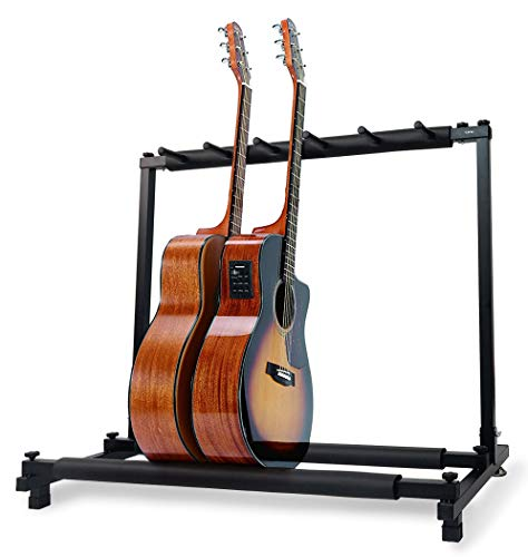 Cific ギター・ベース用スタンド 省スペース 組み立て (5本収納)