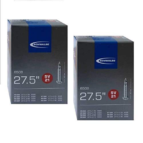Schwalbe SV21 650B Inner Tubes - 27.5 x 1.5/2.4' (40/62-584), Presta Valve (2 Pack)