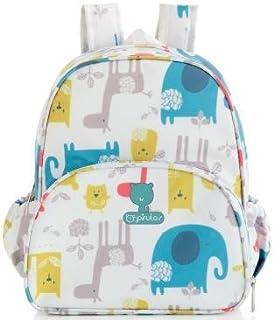 Pirulos 47412220 - Mochila, diseño happy zoo, 26 x 30 x 12 cm, color blanco y gris