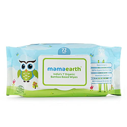 Mamaearth India's First Organic Bamboo Based Baby Wipes (Pack of 1)