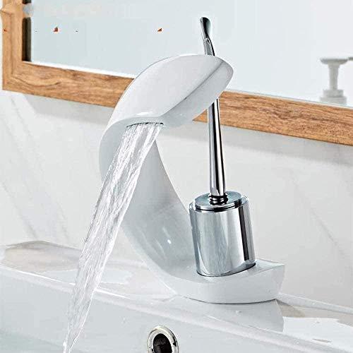 Kraan Enkele Gat Warm en Koud Bekken Kraan Waterval Outlet Badkamer wastafel Kraan
