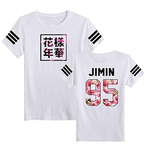SERAPHY Camiseta Unisex KPOP Camiseta Estampada Young Forever Bloom Floral Suga Jin...