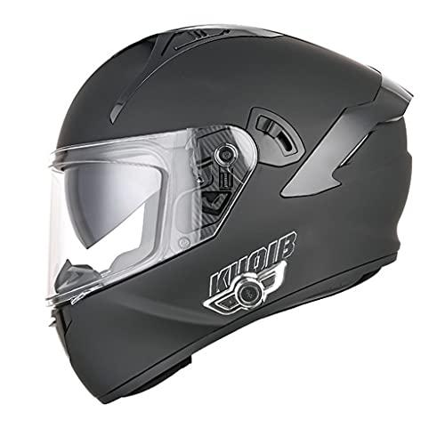 BYBYGXQ Casco Integral de Motocicleta Bluetooth con Visera Doble para Hombres y Mujeres Casco Scooter Modular Crash Aprobado ECE Casco Carretera Antivaho Abatible Adecuado Todas Las Estaciones