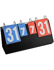 LetCart Tabellone segnapunti Contatore punteggio tabellone segnapunti Sport Flip Portatile a 2//3//4 cifre per Basket da Ping-Pong