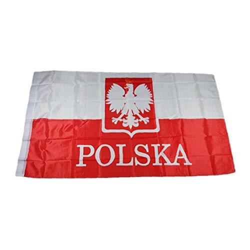 3x5 Piede Polonia Bandiera Vivid Bandiere Colore Nazionale Uv Fade Resistente Con Cuciture Doppie Stampa Floreale Polonia Nazionale Banner
